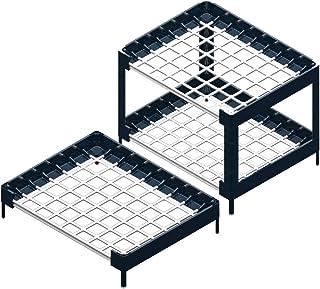 [CONDEV] リビングブロック 組み立て ラック ‐ ディッシュラック 浴室用ラック 排水ボード - 5種類 / 7カラー [並行輸入品] (ホワイト, L431)