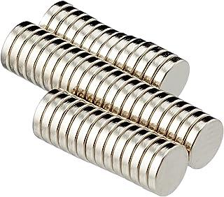 First4magneten F351-50 diameter dikke N42 neodymium magneet 0,3 kg aantrekkingskracht St-verpakking, nikkel, 5 mm dia x 1 ...