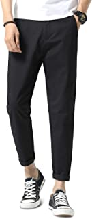 NEWHEY チノパン メンズ スキニー 大きいサイズ ストレッチ スリム ズボン ボトムス ロングパンツ スウェットパンツ 細身デザイン 無地 カジュアル ブラック グレー カーキ