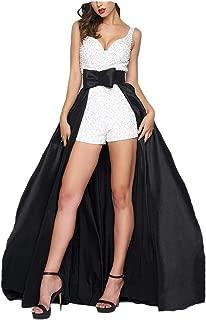 detachable overskirt black