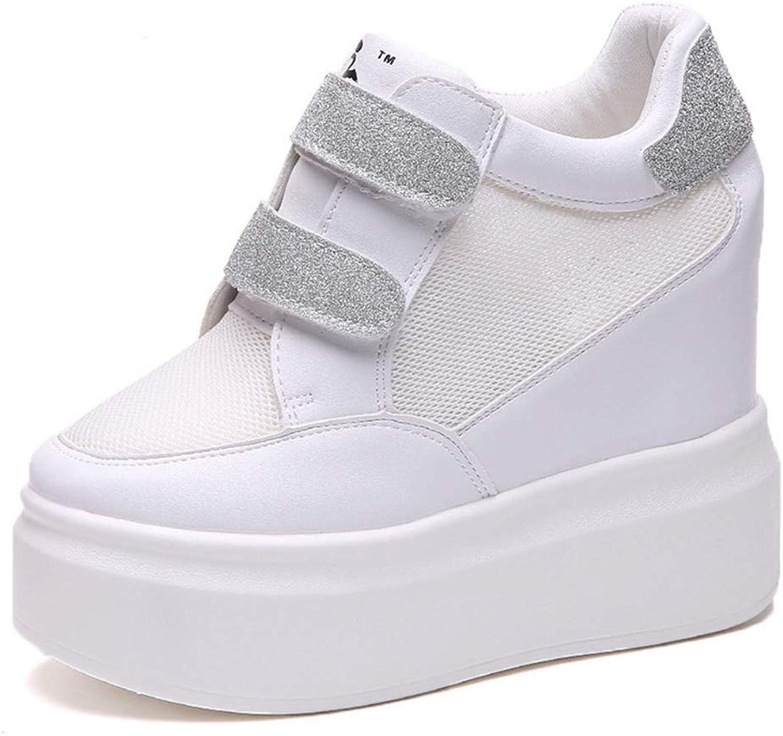 Women Wedges Height Air Mesh Increasing shoes Female Casual Platform Sneaker Fashion High Heels