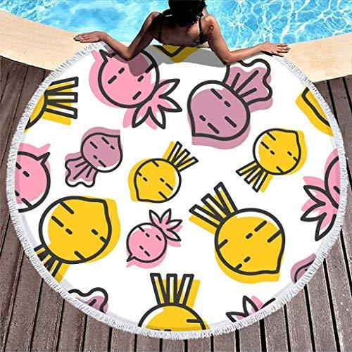 Manta de toalla de playa de felpa grande con flecos de mandala, esterilla de yoga, súper suave, súper absorbente, bolsa de arena de 149 cm con