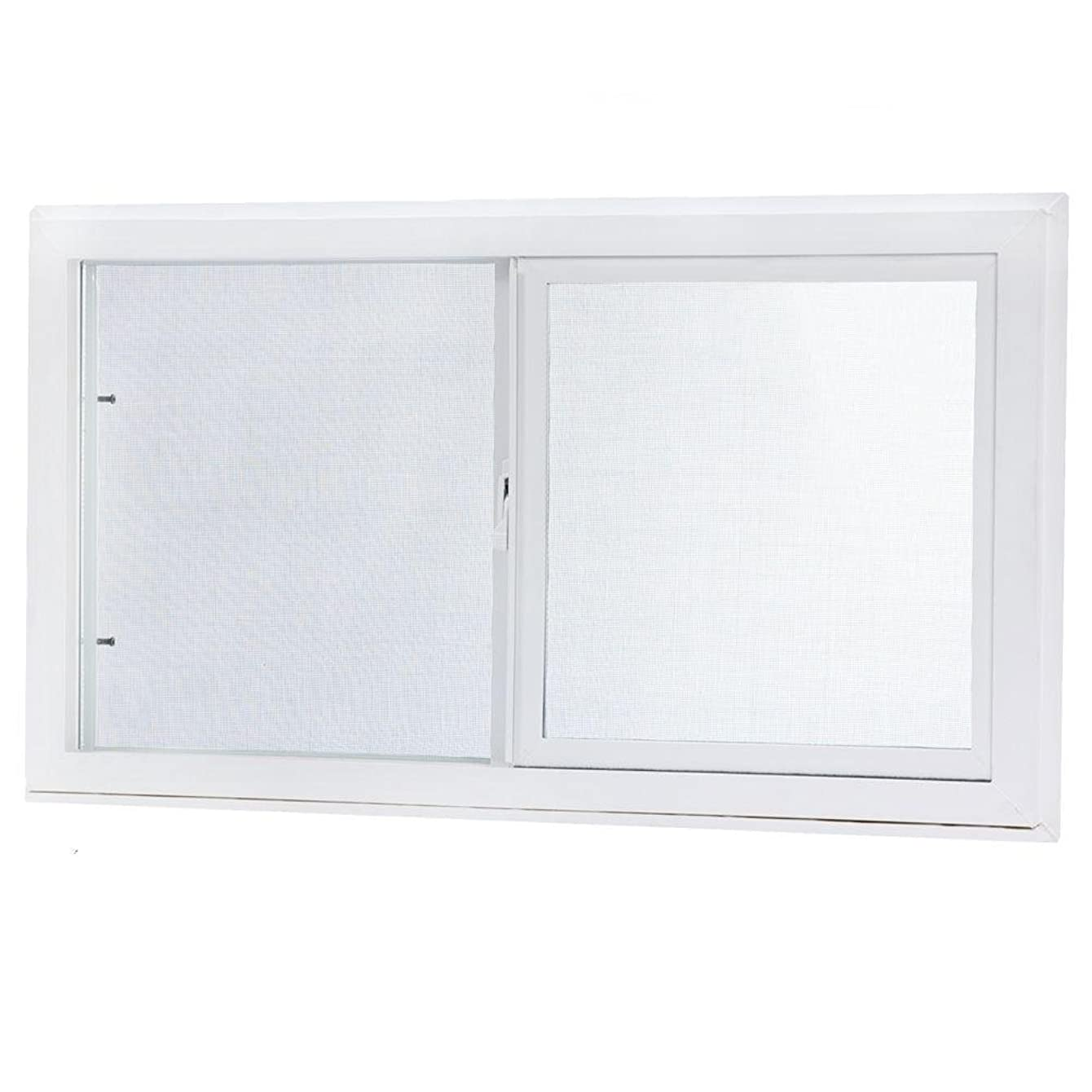TAFCO WINDOWS Vinyl Slider Window, 32 in. x 18 in. White with Dual Pane Insulated Glass
