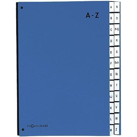 Exacompta 54122E Ordnungsmappe Manila Karton, 400g, geheftet, mit 12 F/ächern und Gummizug, Format DIN A4 1 St/ück blau