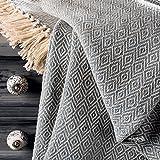 ETHNICITI Fair-Trade-Decke für Sofas, Sofas, Tagesdecke, Sessel, Fransen, weicher Überwurf – 125 x 150 cm