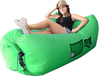 EasyGoProducts WooHoo 3.0 Giant Outdoor Inflatable Lounger with Carry Bag – Air Lounger – Air Couch – Patent Pending - Easy to INFLATE New Technology