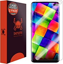Skinomi TechSkin [2-Pack] (Case Compatible) Clear Screen Protector for Samsung Galaxy S10 Plus (S10+ 6.4