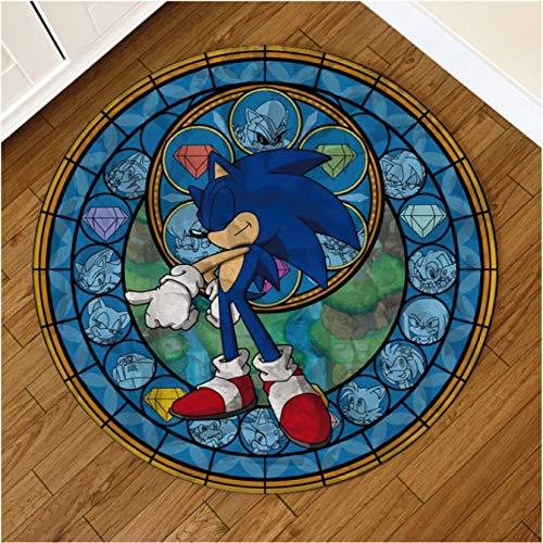 Alfombra Redonda Anime Kingdom Hearts Sonic Unicorn Horse Horse Mat Alfombrilla Alfombra para El Hogar Alfombra para El Hogar Hotel Sala De Estar Alfombrilla Antideslizante 160Cm