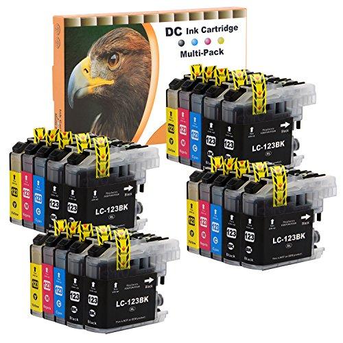 D&C 20er Set Druckerpatronen Kompatibel für Brother LC-123 LC123 XL für MFC-J4510DW MFC-J4610DW MFC-J470DW MFC-J4710DW MFC-J650DW MFC-J6520DW MFC-J6720DW MFC-J6920DW MFC-J870DW DCP-J132W J152W J172W