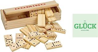 Holz Domino 28 Steine, inkl Spielanleitung, Holzbox und grat