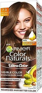 Garnier Color Naturals Crème Riche Hair Color, 730 Golden Brown, 55ml + 50g