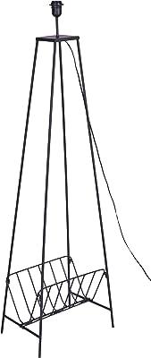 Better & Best Lampe de sol en fer avec 4 pieds et porte-revues Noir 39 x 28 x 133,5 cm Matériau : métal