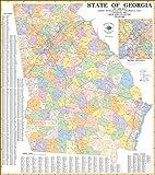 State of Georgia Zip Code Map Laminated 2021