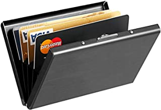 RFID Credit Card Holder Protector Stainless Steel Credit Card Wallet Slim RFID Metal Credit Card Case for Women or Men