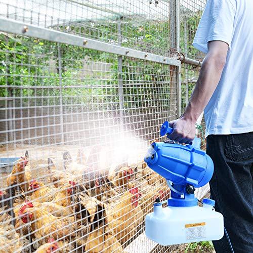TOPQSC Nebulizador ULV eléctrico portátil 5L Fogger Rociador Asesino de Mosquitos, rociadores Inteligentes Fogger Rociadores industriales de riego