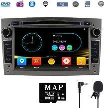 Stereo Home Car Stereo Satellite GPS Navigator para Opel, Unidad Head 7 Pulgadas 2 DIN Car Stereo con Soporte para Reproductor de CD y DVD GPS, USB SD, FM Am RDS, Bluetooth, SWC(Gris)
