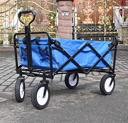 YWXLC Chariots de manutention Portable Pliant à la Main Petit Panier Maison supermarché à Quatre Roues pêche Camping Tige de Plage Shopping cart Chariot à Main Pliant (Couleur : G)