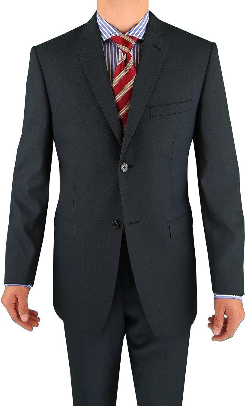 Marzzotti Eleganz 2 Button Men's Suit Trim Modern Fit Charcoal
