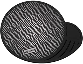 Debowler Piece Keeper Silicone Dab Mat - Large - Made in the USA - New! (Black)