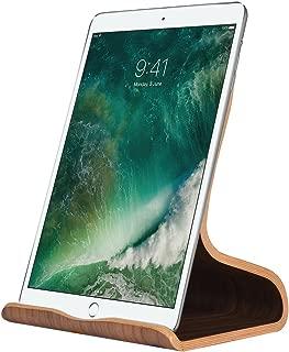 SAMDI Wood Tablet Stand, Wooden iPad Holder: Desktop Stand Holder Dock for new iPad 2017 Pro 9.7, 10.5, Air mini 2 3 4, Kindle, Nexus, Accessories, Tab, E-reader, other Tablets(4-13 inch)-Black Walnut