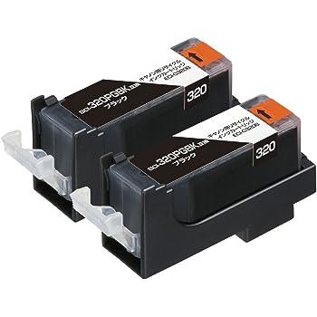 エコリカ キヤノン BCI-320PGBK2P 対応リサイクルインクカートリッジ ブラック2本パック ECI-C320B2P