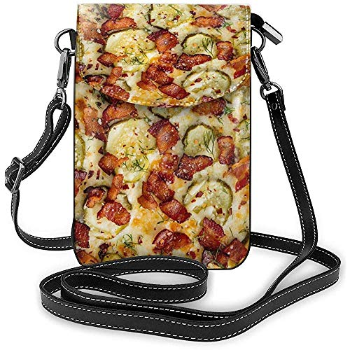 Interieur Shell mobiele telefoon tas WalletWomen 's Small Pizza patroon schoudertas portemonnee
