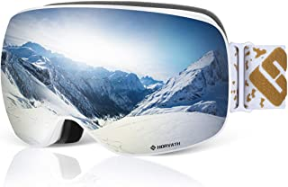 SH HORVATH Ski Snowboard Goggles, Super Anti-Fog Ski Goggle UV Protection Mirrored/Original Lenses Windproof Scratch Resistant Coated Inner Lens with Quick Change Lens System for Men Women Youth