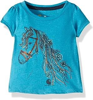 Baby Girls Short Sleeve Cotton Graphic Tee T-Shirt