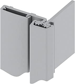 Hager 780-053 Series Aluminum Heavy Duty Fire Rated Roton Continuous Geared Hinges, Half Surface, Clear Anodized, 83