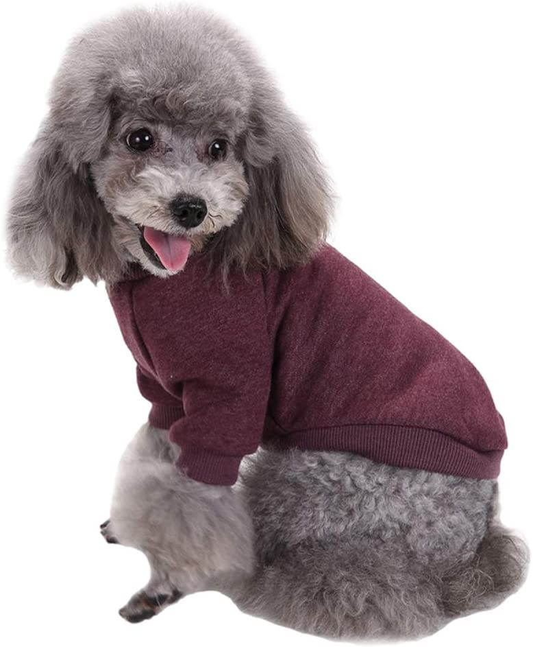 Jecikelon Pet Dog Clothes Knitwear Dog Sweater Soft Thickening Warm Pup Dogs Shirt Winter Puppy Sweater for Dogs (Pink, S)
