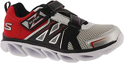 Skechers Hypno Flash 3.0-Swiftest 90512L Boys' Toddler-Youth Sneaker 13 M US Little Kid Silver-Red