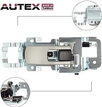 AUTEX Textured Silver Interior Door Handle Front/Rear Right Passenger Side Compatible with Chevrolet Equinox 2005-2009 Replacement for Pontiac Torrent 06-09 Door Handle 15926296