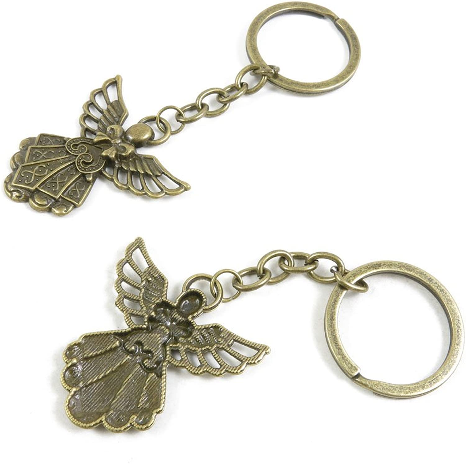 130 Pieces Fashion Jewelry Keyring Keychain Door Car Key Tag Ring Chain Supplier Supply Wholesale Bulk Lots W7AC4 Fairy Angel
