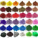 Vstion Epoxidharz Farbe 36 Farben,Seifenfarben,mica Pulver,Farbstoff für Seife und Epoxidharz...
