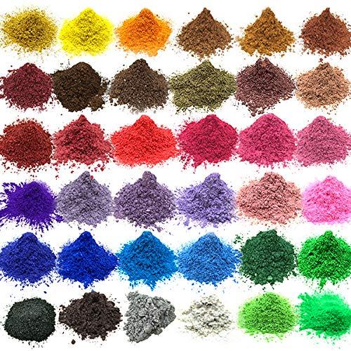 Vstion Epoxidharz Farbe 36 Farben,Seifenfarben,mica Pulver,Farbstoff für Seife und Epoxidharz (160g)