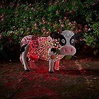Smart Garden Solar Daisy The Cow Silhouette Light Garden Light Figure Ornament
