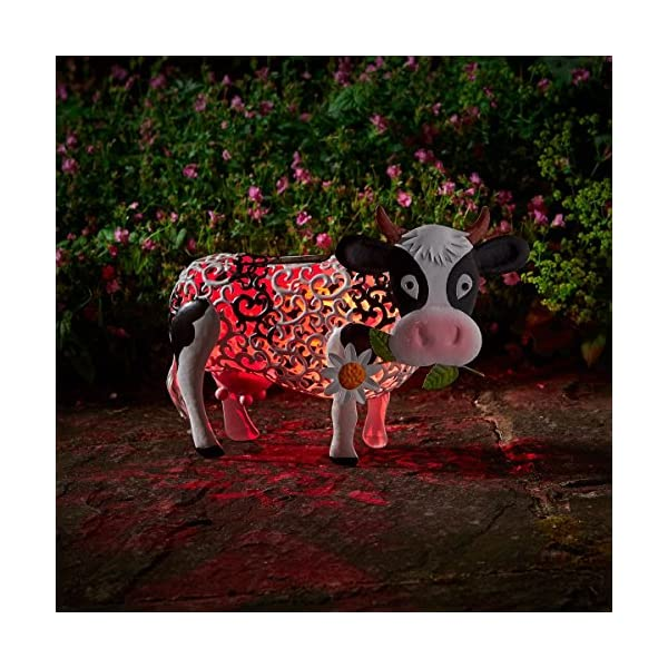 Smart Garden Solar Daisy The Cow Silhouette Light Garden Light Figure Ornament 1