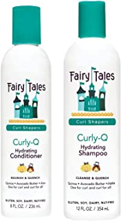 Fairy Tales Hair Care Curly-Q Curly Hair Shampoo and Conditioner Set - Hydrating, Paraben Free, Sulfate Free, Gluten Free,...