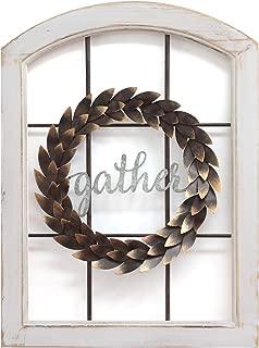 window pane with wreath