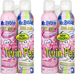 Mr. Bubble Foam Soap, Original Bubble and Mystery Color,4-Bottles, 8 Oz. Each Twin Pack
