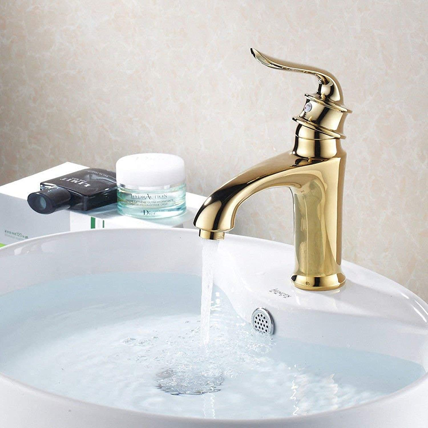Oudan Bathroom Sink Basin Tap Brass Mixer Tap Washroom Mixer Faucet Basin cold water gold water Tsui-fitting retro-copper bathroom sink Faucet Kitchen Sink Taps
