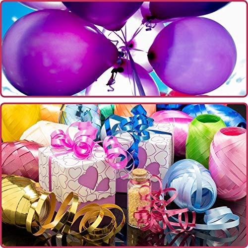"""""""N/A"""" 18 Stück Ringelband Bunten Farben Geschenkbänder 20 m Rolle Hochwertiges Set zumVerpacken und Basteln Polyband in Geschenkverpackung"""