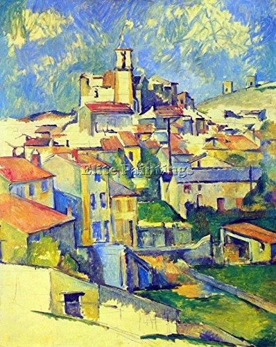 Elite-Paintings Paul Cezanne GARDANNE BY Cezanne Artista Quadro Dipinto Olio su Tela A Mano Arte 120x100cm Alta qualita