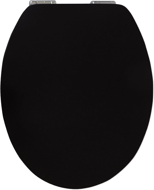 WC-Sitz High-Gloss Pure schwarz mit Soft-Schließ-Komfort Soft-Schließ-Komfort Soft-Schließ-Komfort und Fast Fix B00H440BFY ba7137