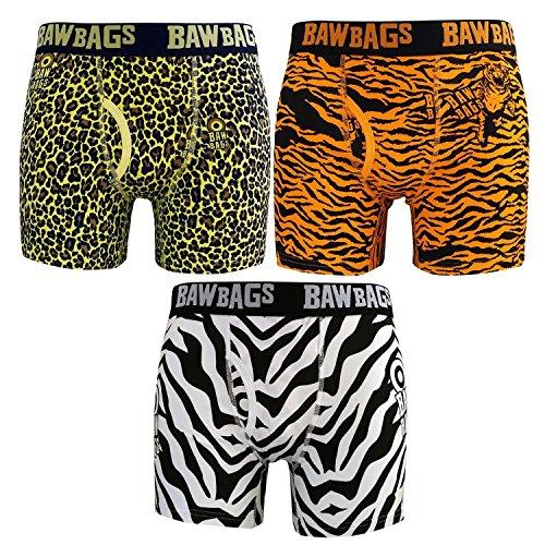 BawBags Safari 3 Pack Mens Boxer Shorts - XSM / 24-26