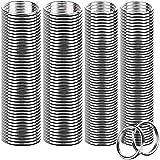 FANDAMEI 200 Pieces Split Key Rings Bulk for Keychain Key and Art Crafts(25 mm /0.98 inch 100pcs...