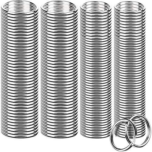 FANDAMEI 200 Pieces Split Key Rings Bulk for Keychain Key and Art Crafts(25 mm /0.98 inch 100pcs ,28 mm /1.1 inch 100pcs)