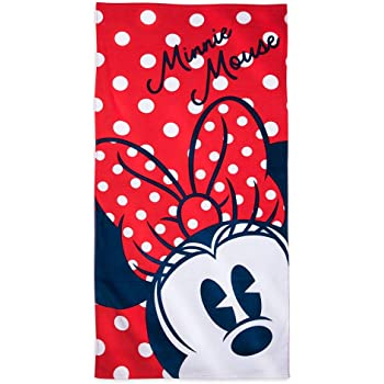 Disney Minnie Mouse Red Beach Towel