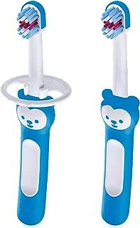 MAM Baby Toothbrush, Baby's Brush, Boy, Blue, 6+ Months