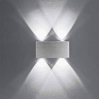 Louvra Apliques de Pared Interior Modernos Lámpara de Pared LED a de Puro Aluminio, Iluminación de Pasillo, Entrada, Dormitorio, etc.